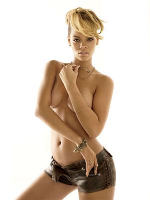 With Rihanna nude gq