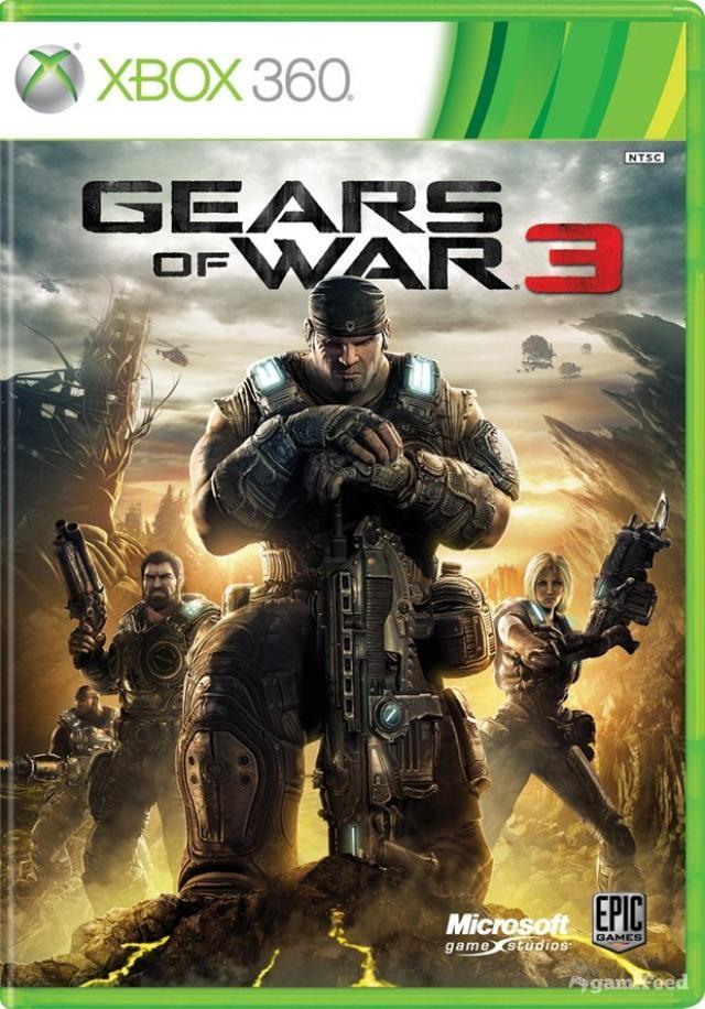 Devant de la boîte de Gears of War 3
