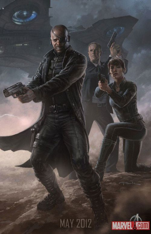 Nick Fury, Agent Coulson and Maria Hill