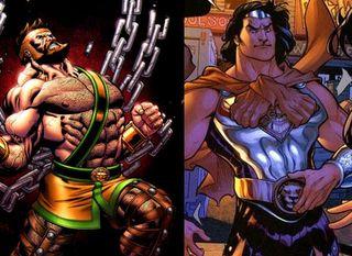 Marvel's Hercules vs. his DC counterpart
