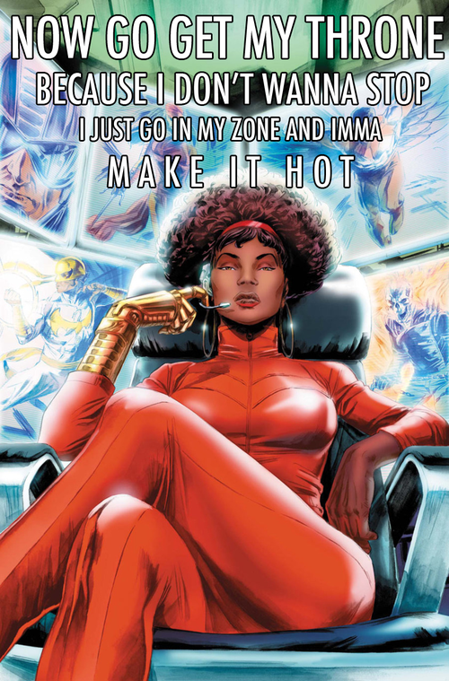 Misty Knight, as seen by kanye + comics