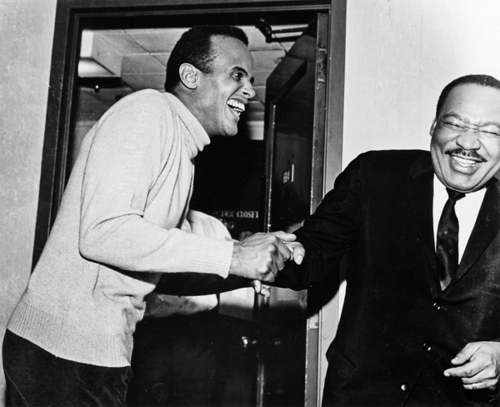 Harry Belafonte and Dr. Martin Luther King Jr.