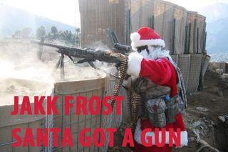 Santa-got-a-gun