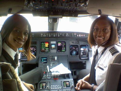 Captain Rachelle Jones, and First Officer Stephanie Grant