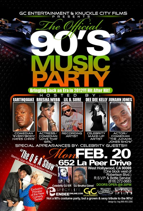 Brutha Gimel rocks The Official 90's Music Party