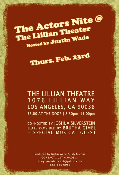 The Actor's Nite @ The Lillian Theater